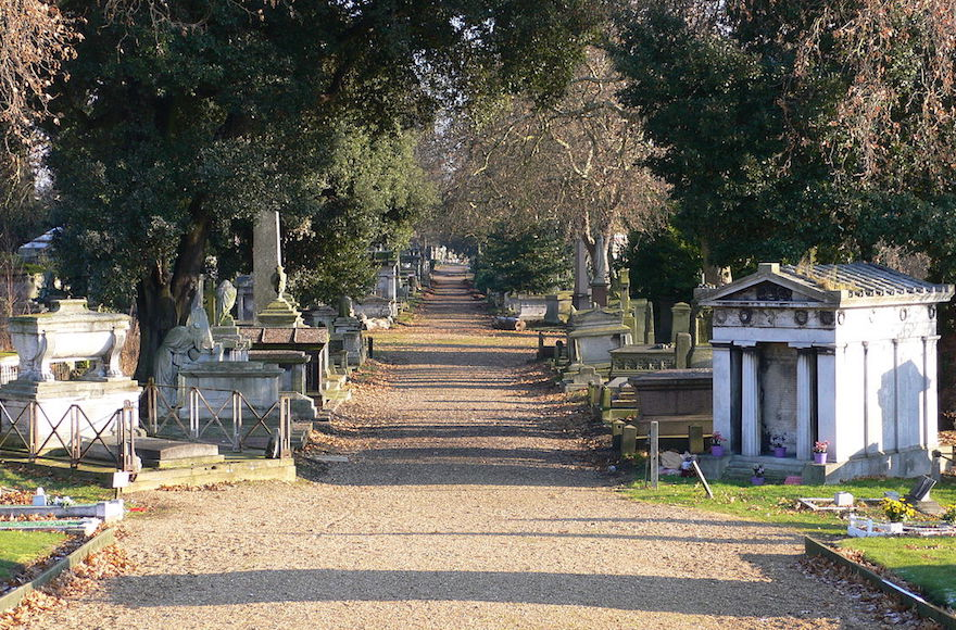 Kensal Green cemetery in London, where David Freud would like his mother to be buried, against the wishes of his sister. (Wikimedia Commons)