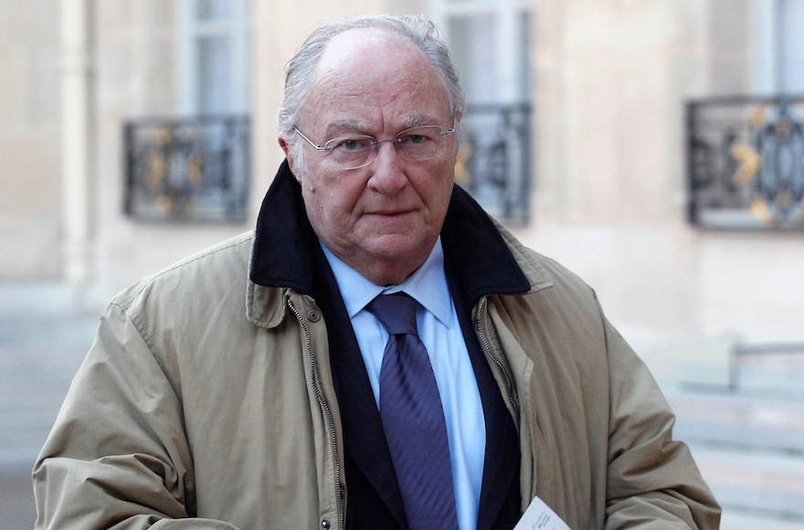 Roger Cukierman, president of the CRIF. arriving at the Elysee Palace for a meeting between France's Jewish associations and the French president in Paris, Jan. 11, 2015. (Thierry Chesnot/Getty Images)