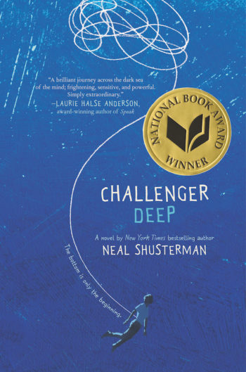 "The cover of ""Challenger Deep,"" which won a National Book Award. (Courtesy of Harper Collins)"