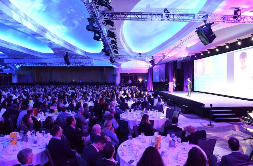A view of the crowd at the Jewish Federations of North America General Assembly, Nov. 10, 2015.