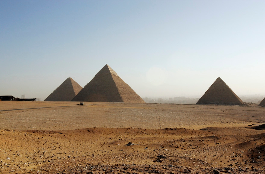 The pyramids of Giza in Cairo, Egypt, Feb. 9, 2006. (Marco Di Lauro/Getty Images)