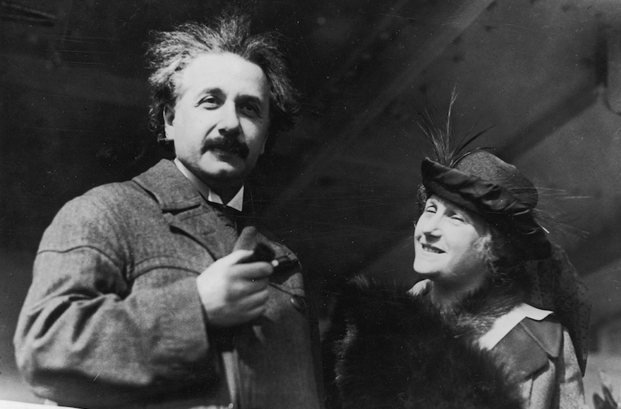 Albert Einstein with his wife Elsa in Egypt, circa 1921. (Topical Press Agency/Getty Images)