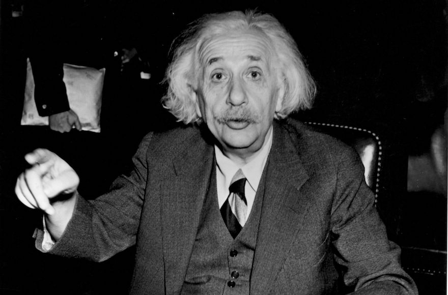 German-born American physicist Albert Einstein, 1946 (Central Press/Getty Images)
