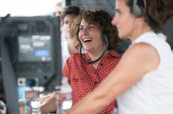 "Jill Soloway, writer and director  of ""Transparent,"" filming the second season of the show on set. (Courtesy of Amazon Studios)"