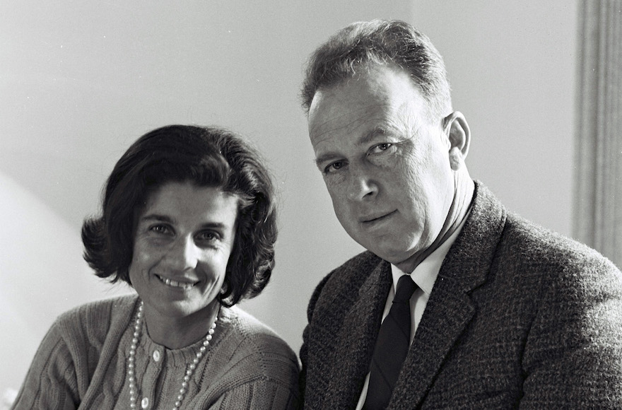 Leah and Yitzhak Rabin in 1968. (Israel Government Press Office)