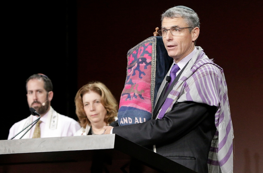 Union for Reform Judaism president, Rabbi Rick Jacobs, speaking at the movement's biennial conference in Orlando, Fla, Nov. 7, 2015.