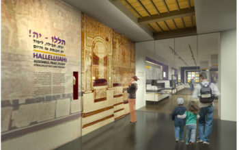 A rendering of the new Synagogue Gallery at Beit Hatfutsot - The Museum of the Jewish People. (Courtesy of Beit Hatfutsot)