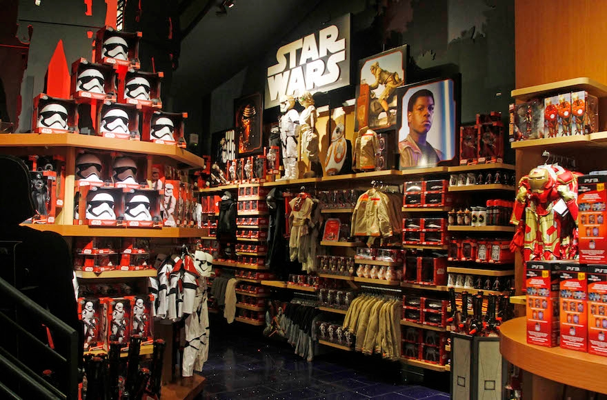 Merchandise at the Stockton Street Disney Store in San Francisco, Sept. 4, 2015. (George Nikitin/Invision for Disney Consumer Products/AP Images)