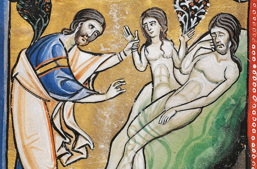 The creation of Eve from Adam's rib seen in the Bible of Souvigny, Latin manuscript 1 folio 4 verso, 12th Century. (DeAgostini/Getty Images)