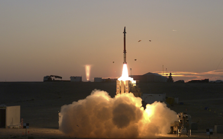 The David's Sling missile defense system undergoes a final round of tests on Dec. 21, 2015 in Israel. (AP Photo courtesy of Israel Ministry of Defense)