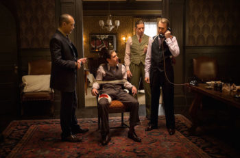 "Zegen, center, played Jewish gangster Bugsy Siegel in HBO's ""Boardwalk Empire."" (Courtesy of HBO)"