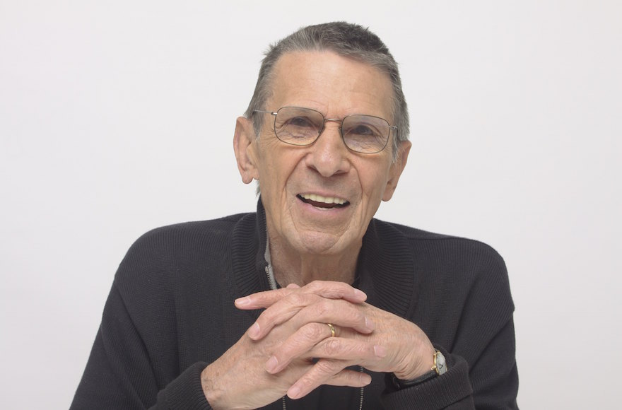 Leonard Nimoy at the Four Seasons Hotel in Beverly Hills, California, April 26, 2009. (Munawar Hosain/Fotos International/Getty Images)