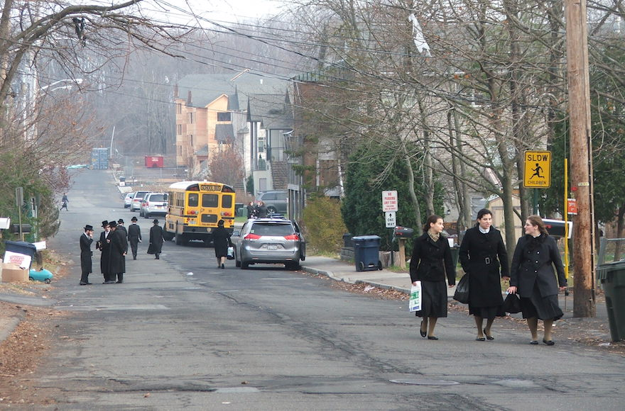 New Square, an all-Hasidic village in Rockland County, is one of many Orthodox hamlets in the area whose rapid growth has helped fuel Hasidic political power. (Uriel Heilman)