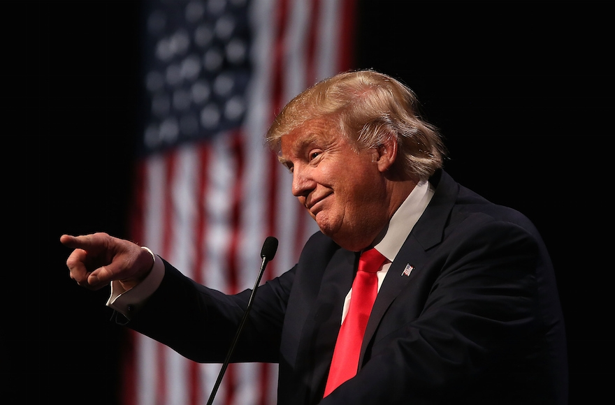 Republican presidential candidate Donald Trump speaking during a campaign rally at the Westgate Las Vegas Resort & Casino in Las Vegas, Nevada, Dec. 14, 2015. (Justin Sullivan/Getty Images)