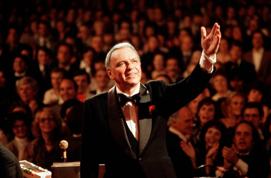 Frank Sinatra performing at Royal Albert Hall in London, Sept. 1, 1980. (David Redfern/Redferns/Getty Images)