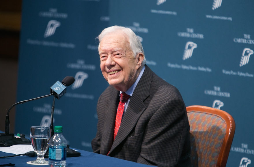 Jimmy Carter discussing his cancer diagnosis during a press conference at the Carter Center in Atlanta, Aug. 20, 2015. (Jessica McGowan/Getty Images)
