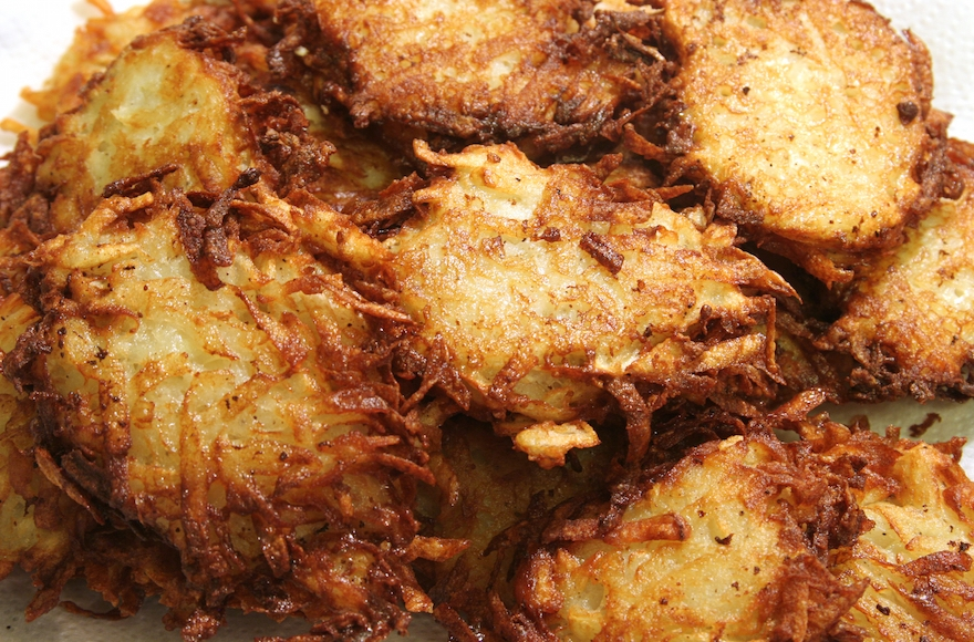 Latkes have not always been made of potatoes. (Shutterstock)