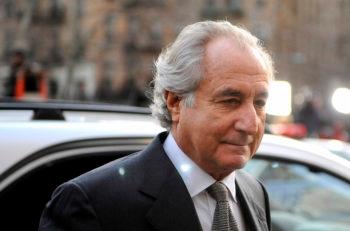 Bernard Madoff arriving at Manhattan Federal court, March 12, 2009. (Stephen Chernin/Getty Images)