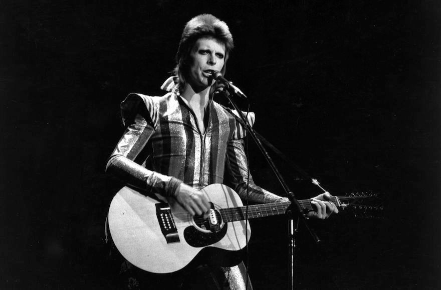 David Bowie performing at his final concert as Ziggy Stardust at the Hammersmith Odeon, London, July 3, 1973. (Express/Getty Images)