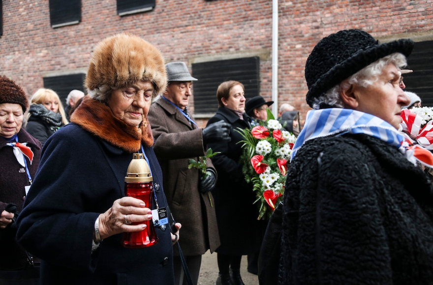 The 71st anniversary event commemorating the liberation of the German Nazi concentration camp Auschwitz in Oswiecim, Poland, Jan. 27, 2016. (Beata Zawrzel/Pacific Press/LightRocket via Getty Images)