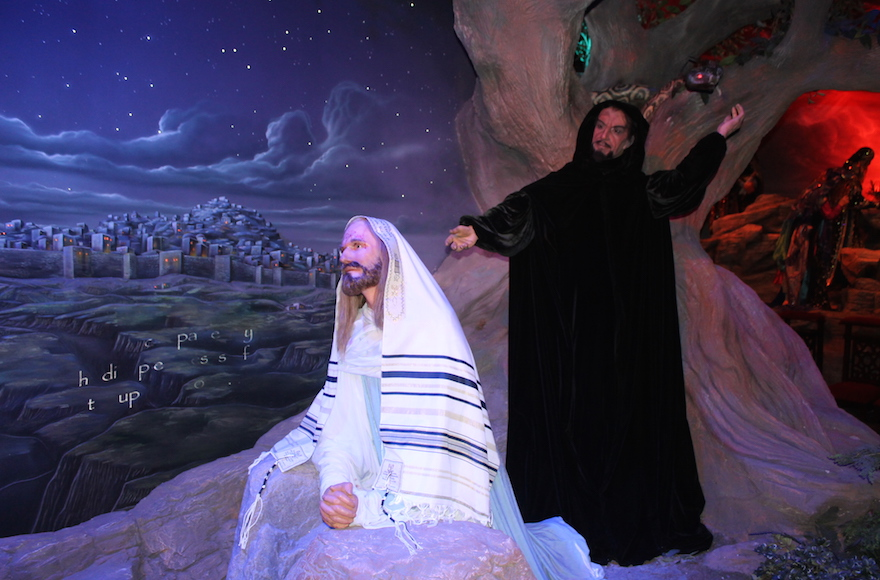 One of the many figurines of Jesus at the Holy Land Experience theme park in Orlando, Florida. (Uriel Heilman)