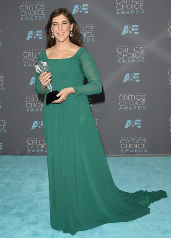 Mayim Bialik at the 21st Annual Critics' Choice Awards in Santa Monica, California, Jan. 17, 2016. (Jason Merritt/Getty Images)