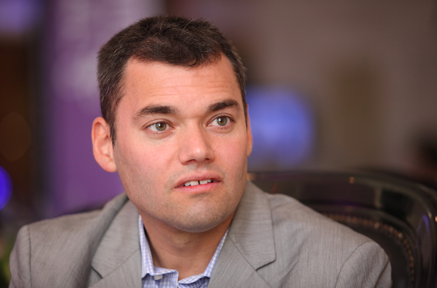 Peter Beinart attending the Israeli Presidential Conference, June 21 2012. (Flash90)