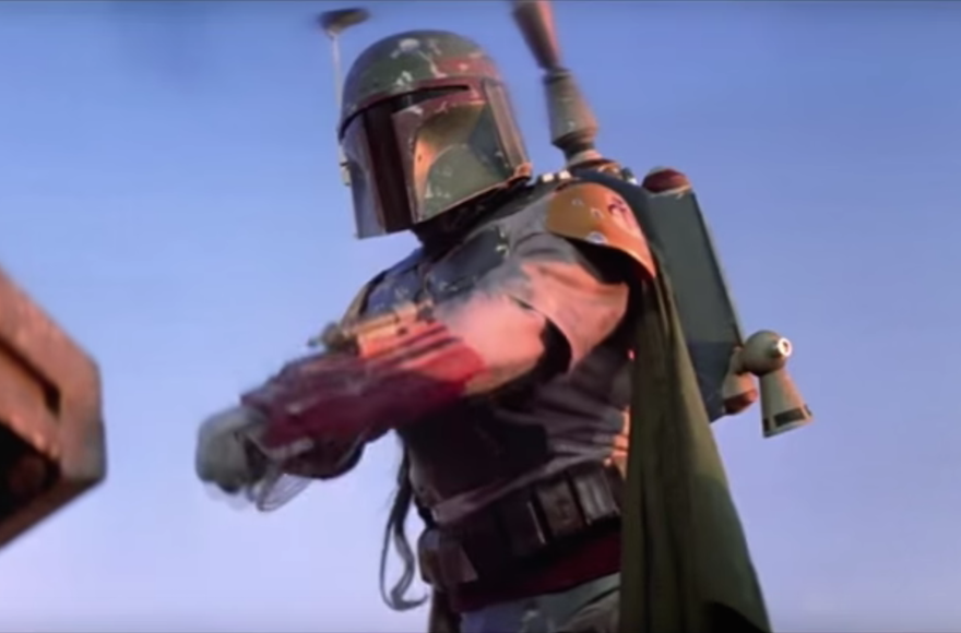 "The Boba Fett character from the ""Star Wars"" franchise. (Screenshot from YouTube)"