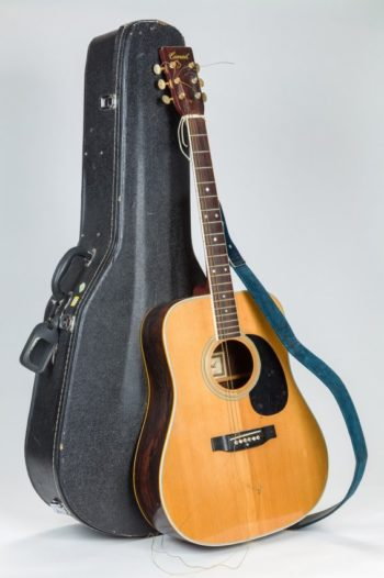 The guitar belonging to Rabbi Shlomo Carlebach will be auctioned in February 2016. (Courtesy J. Greenstein & Co., Inc.)