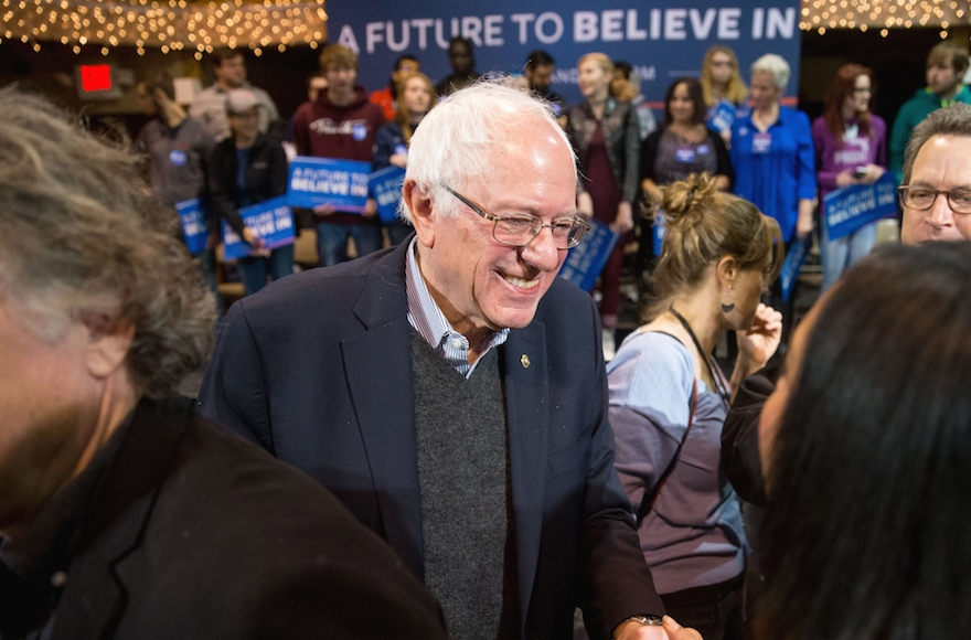 Democratic presidential hopeful Bernie Sanders campaigning in Fort Dodge Iowa Jan. 19 2016