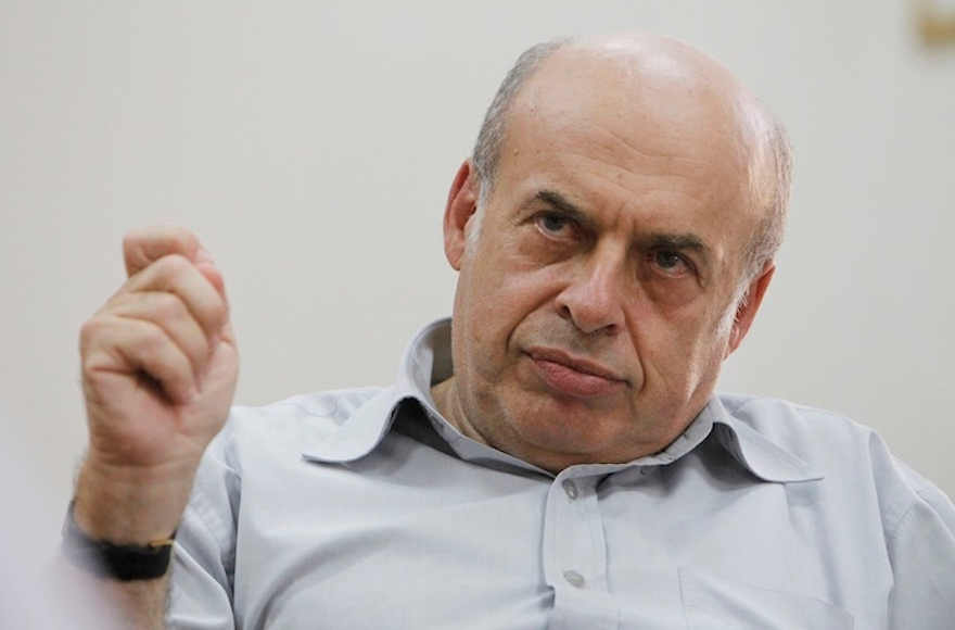 The chairman of the Jewish Agency for Israel, Natan Sharansky, speaking to the press at his office in Jerusalem, Israel, Sept. 12, 2013. (Miriam Alster/Flash90).