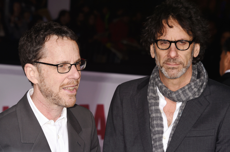 "Ethan Coen, left, and Joel Coen arriving at the premiere ""Hail, Caesar!"" at Regency Village Theatre in Westwood, California, Feb. 1, 2016. (Jeffrey Mayer/WireImage)"
