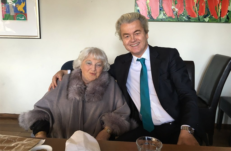 Geert Wilders and Diana Blog in Amsterdam on Feb. 15 2016. Courtesy of Geert Wilders