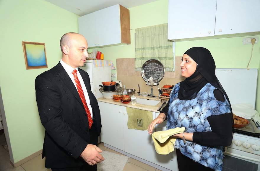 Jonathan Greenblatt at a nursery for Arab and Jewish children during a trip to Israel in Oct. 2015. (Courtesy of the Anti-Defamation League)