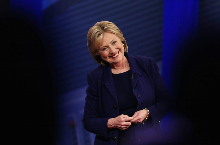 Hillary Clinton at a Democratic Presidential Town Hall at the Derry Opera House in Derry, New Hampshire, Feb. 3, 2016. (Justin Sullivan/Getty Images)