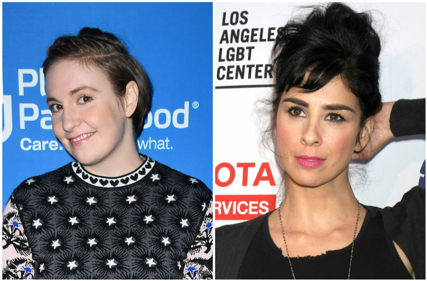 Lena Dunham, left, and Sarah Silverman (Getty Images)