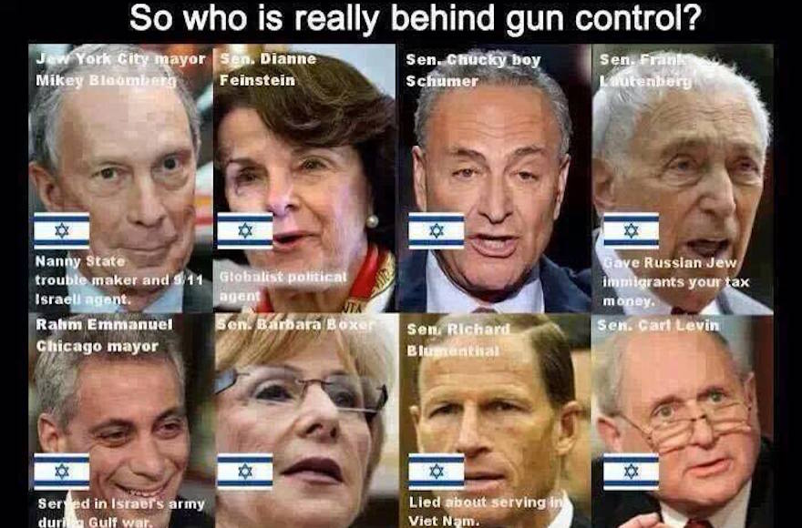 An anti-Semitic post made on Ted Nugent's Facebook page (Facebook)