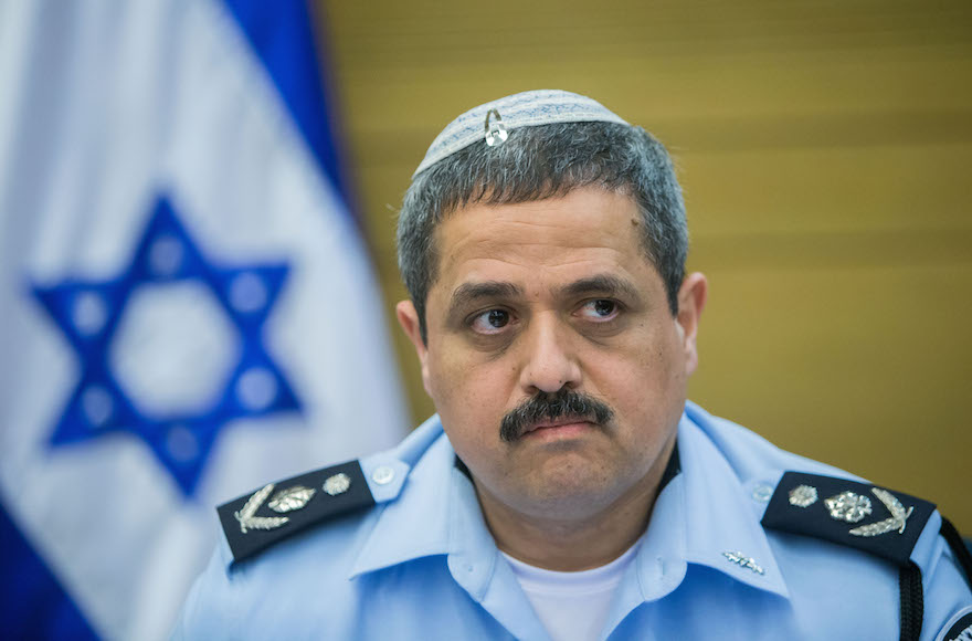 Israel Police Chief Roni Alsheikh attending an internal affairs committee in the Knesset in Jerusalem, Israel, Feb. 9, 2016. (Yonatan Sindel/Flash90)