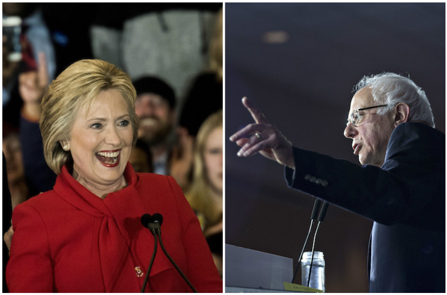 Hillary Rodham Clinton, left, and Bernie Sanders (Getty Images)