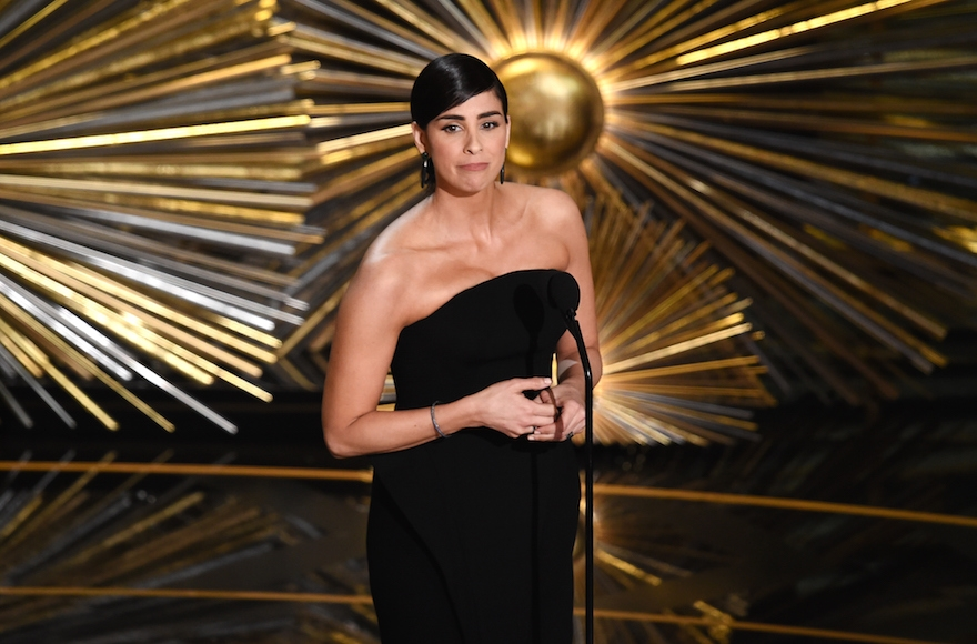 Sarah Silverman speaking onstage during the 88th Annual Academy Awards at the Dolby Theatre in Los Angeles, Feb. 28, 2016. (Kevin Winter/Getty Images)