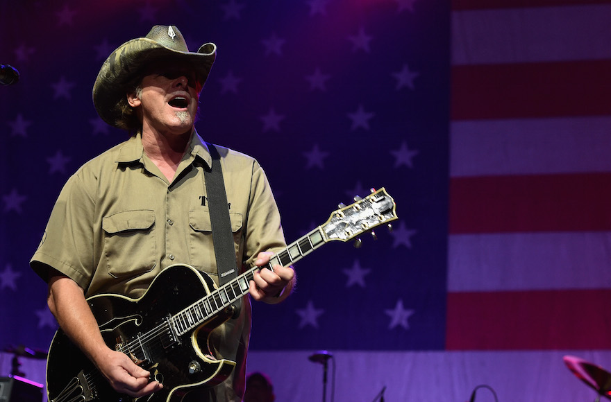 Ted Nugent performing at Charlie Daniels' 2015 Volunteer Jam at Bridgestone Arena in Nashville, Tennessee, Aug. 12, 2015. (John Shearer/Getty Images for Webster Public Relations)