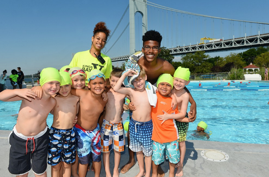 Swimming instruction is part of the program at the Kings Bay Y's Summer Camp in Brooklyn. (Courtesy of the Kings Bay Y)