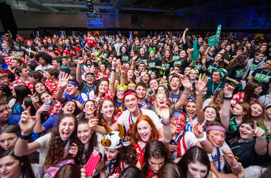 Participants in the BBYO International Conference in Baltimore, Feb. 18, 2016. (Jason Dixson Photography)