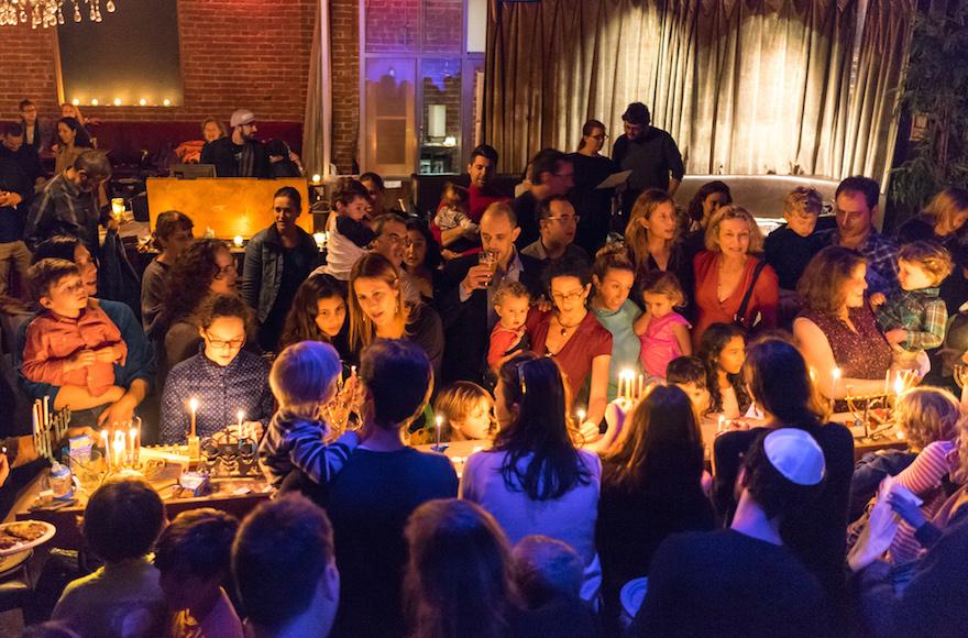 The Kitchen in San Francisco holding a Hanukkah celebration, Dec. 9, 2015. (Q Lam)