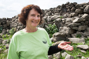 Laurie Rimon, the Israeli woman who discovered the rare gold coin while hiking. (Israel Antiquities Authority)