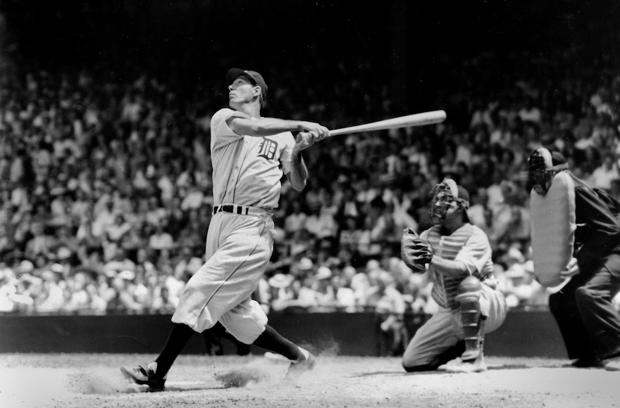 Hank Greenberg batting for the Detroit Tigers in 1935. (TSN Archives/Getty Images)