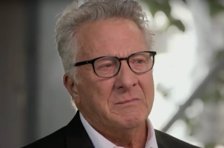 "Dustin Hoffman on the PBS show ""Finding Your Roots,"" March 8, 2016. (Screenshot from YouTube)"