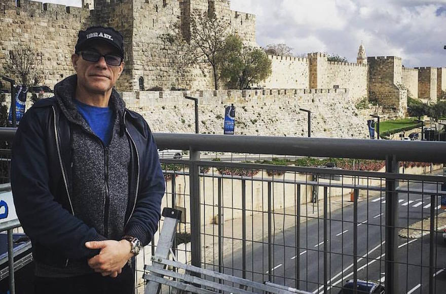 Jean-Claude Van Damme in Jerusalem, March 29, 2016. (Facebook)