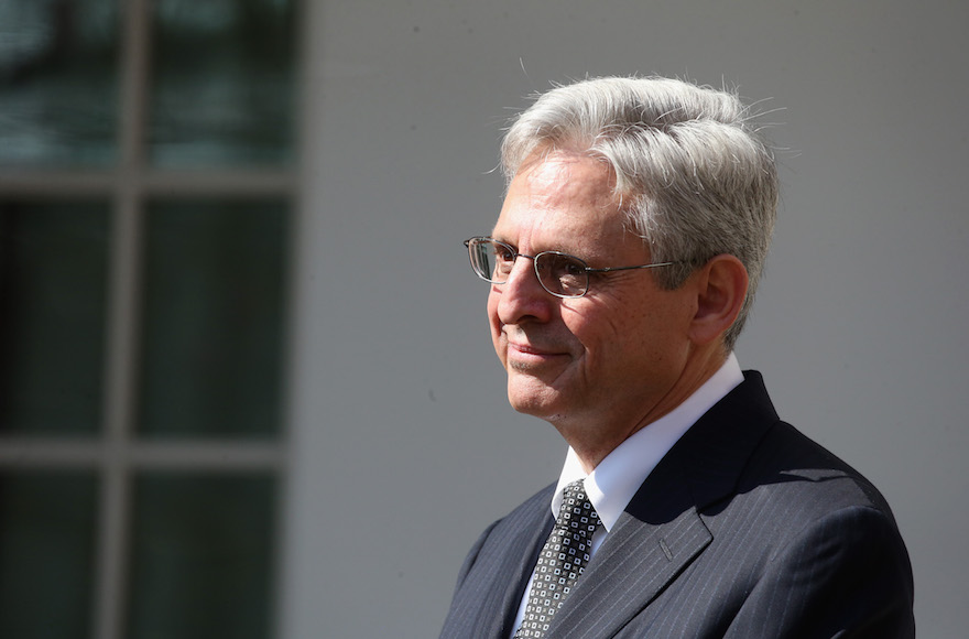 Judge Merrick B. Garland being introduced by President Barack Obama as a nominee for the Supreme Court in the Rose Garden at the White House in Washington, D.C., March 16, 2016. (Mark Wilson/Getty Images)
