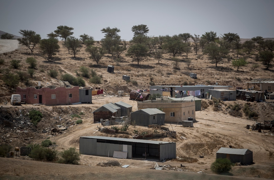 The Bedouin village of Umm al Hiran, in the Negev, Israel, Aug. 27, 2015. (Hadas Parush/Flash90)
